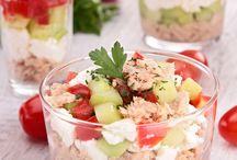 Starter and Mixed salad