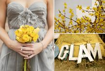 YELLOW & GRAY / I am obsessed with this color combination!