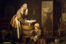 """1758 : Peuple / En prévision de notre journée de reconstitution historique """"Revivre l'Histoire : une journée avec Mme de Pompadour"""" au château de Champs-sur-Marne. Focalisation sur la mode de l'époque."""