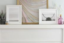 Frames on Mantel