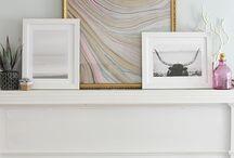 Frames on Mantel