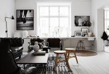 Black & White Achromatic Interiors
