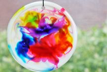 Bright & Cheerful Kids Crafts / fun crafts for rainy or gloomy days; boredom busters;