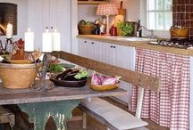 Cottage, country and vintage / Beautiful country homes