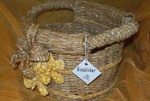 EcoWicker / baskets,summer bags, flower pots, boxes made from ecowicker (paper wicker) #papierowawiklina, #wicker, #mimbre, #pleteneizgazet