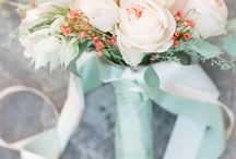menta& peach wedding