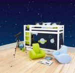 Space Children Beds / A Beautiful Universe for Your Childrens Bedroom. Children Furniture e.g. with Bunk bed, Mid high bed, Half high bed, High bed, Conopy bed and Sofabed made in the Highest Quality from Hoppekids.