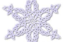 sniezynki na czolenku