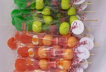 brochetas de dulce