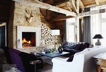 Fresh log cabin decorating styles / by Rita Muller