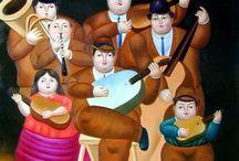 Fernando Botero Angulo (1932-) / Pocos artistas hispanoamericanos han logrado tanta repercusión a nivel internacional como el pintor y escultor colombiano Fernando Botero. Su personalísimo estilo, que tiene entre sus rasgos más fácilmente identificables el agrandamiento o la deformación de los volúmenes. La singular expresividad de una estética en la que las problemáticas humanas y sociales ocupan un lugar prioritario.