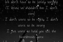 Song Lyrics / by Renee Mullinax