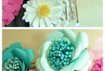 paperista kukkia