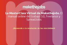 ¿Qué es Makethejobs? / Makethejobs es un mercado alternativo de SpreadJobs para crear ofertas de trabajo y llevar a cabo favores, proyectos freelance  y trabajos ocasionales consiguiendo el dinero de recompensa de las ofertas. ¡Bienvenido a la revolución de los miniJobbers!