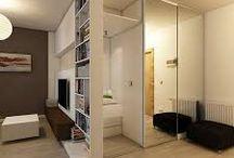 зонирование мебелью в интерьере