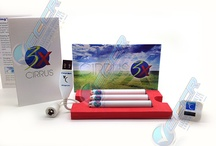 White Cloud Electronic Cigarette Products & Accessories / An assortment of products offered from the White Cloud e-cigarette company.