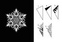 Бумажные снежинки