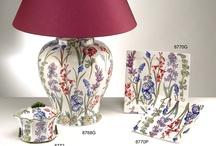 Lámparas de cerámica San Marco / Lámparas de cerámica italiana San Marco, con motivos florales.