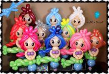 balony postacie