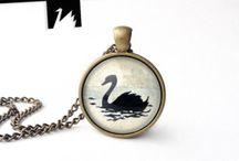 TotemSwan artistic jewelry / https://www.etsy.com/shop/TotemSwan?ref=hdr_shop_menu   totemswan artistic jewelry pendant necklace