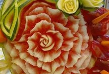 First international carving championship / art with fruits