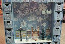 home made christmas calendar