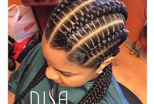African plaits and braids