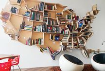American home library