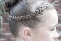 Gymnastics Meet Styles for Long Hair / Creative ways to avoid flyaways on the hair front, for your gymnast.