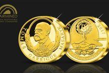 80. výročí od úmrtí T. G. Masaryka / Národní Pokladnice vydala na počest významného jubilea Tomáše Garrigue Masaryka hned několik medailí a mincí.