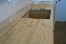 wooden counter for st. georges