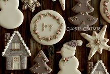 Christmas royal icing cookies