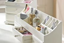 makeup storage / by Stacy Martone