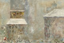 Winter Scenes / Art Works featuring Winter Scenes.  Sold by John Moran Auctioneers, Pasadena, CA
