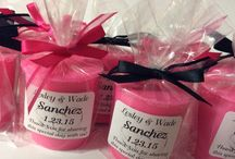 """Wedding Favors / Say """"Thank You"""" to your guests for sharing your special day with a candle! / by Gina Dees"""