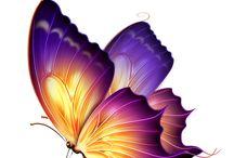 kreslené motýliky,postavičky...