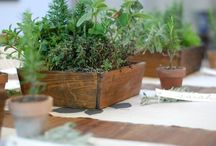 { Wooden Boxed Centrepieces }