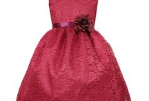 Flower Girl Dress with Floral Lace Overlay / This adorable  girls dress is perfect for flower girl, holiday, parties, first communion, or any special occasion . This flower girl dress features a fully lined, tea length skirt with lace overlay and accented with a satin ribbon and flower along waist. Zipper closure with tie back