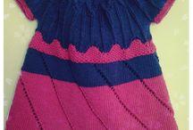 handmade by arfyl °Kinder° / dress kleid knitting crochet stricken häkeln children girl  baby крючок вышивка на вязаном