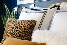 Master bedroom / Navy for night. White for refreshment. Peach for softness. Throw in a gold for elegance and something animal print for a lil roar / by Carla O'Neill