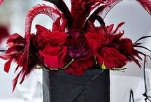 Red wedding and valentines ideas and inspiration / Red weddings and valentines ideas and inspiration. Chair covers, candy carts, centrepieces