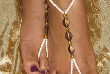 Foot Jewelry Handmade Ideas / Here you find many fresh and inspiring ideas of handmade foot jewelry made from Upcycled & Recycled materials! So, get some inspiration for a DIY or just have a look and relax :)
