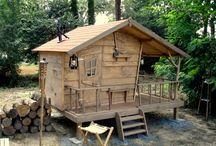 cabanes dans le bois