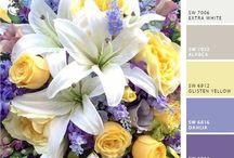Lilac, Lavender and Yellow Wedding Color Inspirations