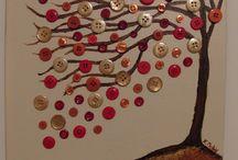 árvore feita com botões