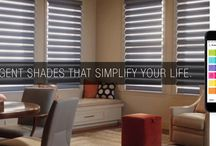 PowerView™ Motorization by Hunter Douglas / A revolutionary new system that automatically moves your shades throughout the day, so you don't have to.