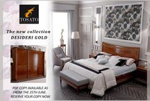 Desideri Gold: Tosato's new collection / Tosato has chosen to enhance the top panels and doors of its furniture in solid beechwood with a gold leaf design produced entirely by the company. As in all its collections, Tosato distinguishes itself through the use of prestigious materials such as cherrywood with inlays of high-quality wood, as well as for its unique and elegant design.  Download the free catalogue of the Desideri Gold collection, available from 25th June 2015: http://www.tosato.com/en/contact/