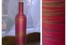 my handmade bottles / twisted bottles