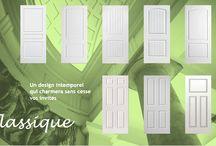 Série Classique / Les portes embossées Classique donnent le cachet manquant à votre pièce. Leur design intemporel vous offre une valeur sûre qui charmera sans cesse vos invités.