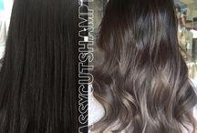 ash brown balayage hair
